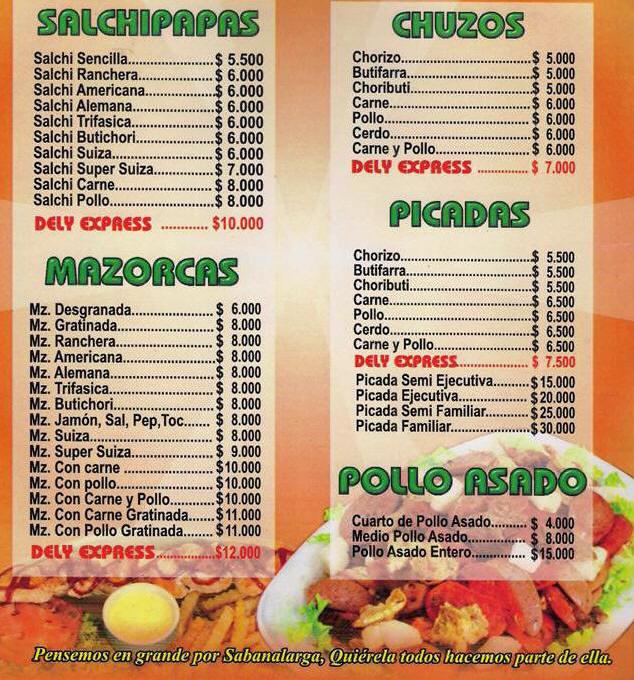 Imagenes menus de comida imagui for Menu para comida familiar